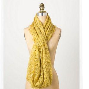 Anthropologie mustard infinity scarf